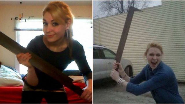 This sheila demonstrates how her Uruk-Hai sword is more practical than you think