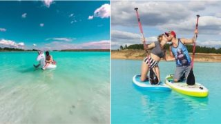 Russian Instagram influencers have been posing in a toxic lake