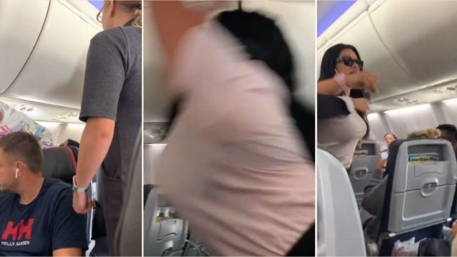 Sheila hulk smashes laptop across husband's head for looking at another woman