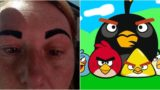 Botched eyebrow makeover leaves sheila looking like an angry bird
