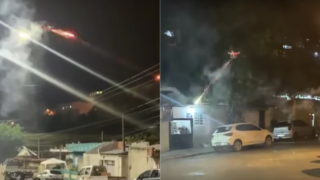 Annoyed by loud music, bloke uses drone to shoot fireworks at neighbours