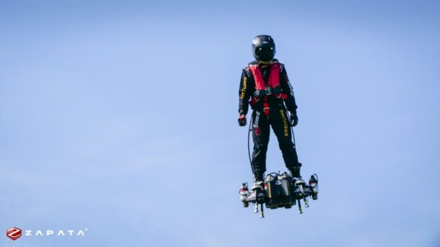 Watch the hoverboard inventor fly across English Channel
