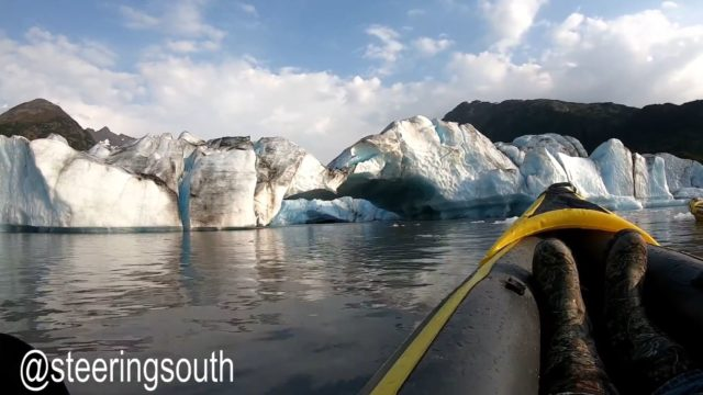 Collapsing glacial bridge 'nearly kills' nearby kayakers