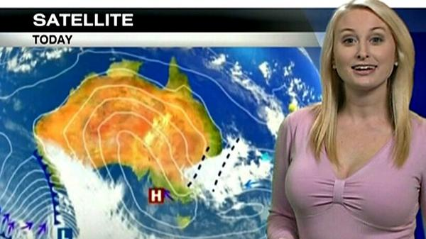 Ozzy weather girl asked to wear outfits that don't distract the viewers