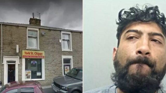 Bloke found covered in curry sauce after drunkenly breaking into chip shop