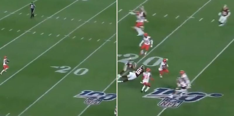 Bloke who lied his way into NFL returned an 86-yard punt to score a touchdown