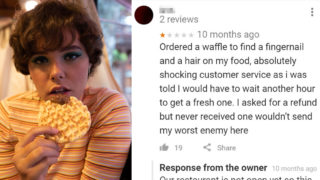 Check out these bloody satisfying restaurant comebacks to bad reviews