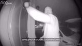 CCTV shows bloody legend bang on neighbours door to warn them of fire and helps them evacuate
