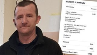 Plumber hits legendary status after refusing payment from elderly woman