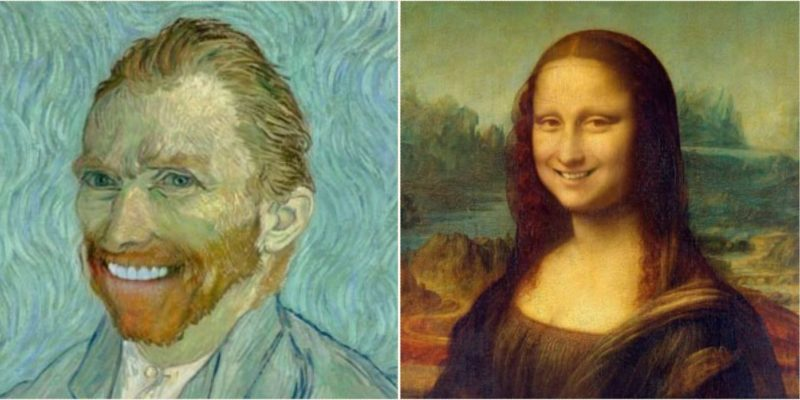 Check out these classic works of art that have been altered to have smiles