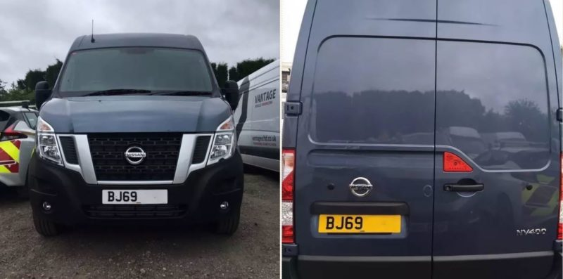 Bloke knocks back new van because the number plate was too rude