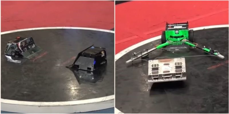Japan has a robot sumo wrestling league and it's bloody intense
