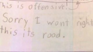 "Schoolgirl refuses to answer ""offensive"" homework question"