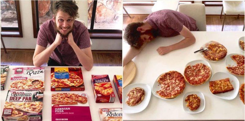 This bloke taste-tested every frozen Hawaiian pizza in Australia