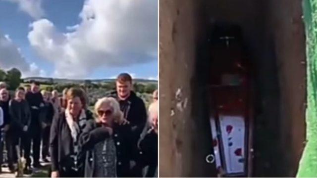 Irish bloke brilliantly pranks his family during own funeral