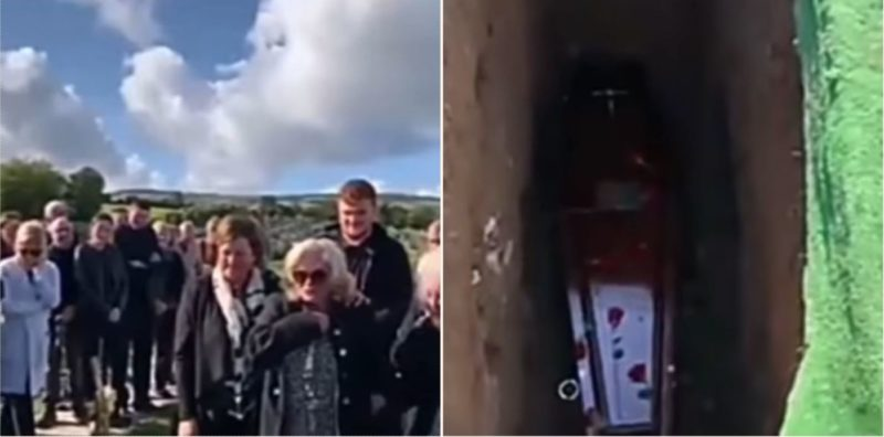 Irish bloke brilliantly pranks his family during own funeral