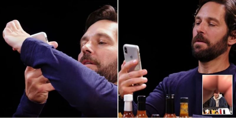 Paul Rudd likes to photobomb pictures with a 'ballsack'