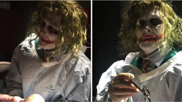 This doctor delivered a Halloween baby dressed as the Joker