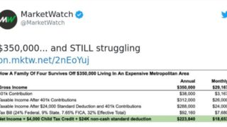 Tweet gets roasted for claiming family earning $350k per year would be struggling