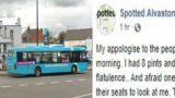 Passenger hilariously apologises online after letting huge fart go during bus ride