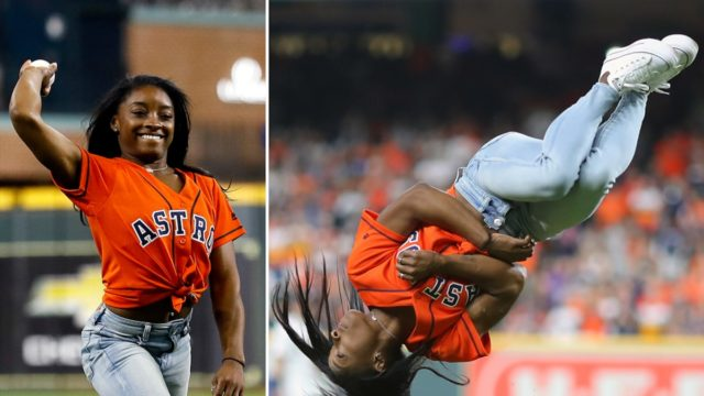 This USA Gymnastics star threw one of the best bloody baseball pitches ever