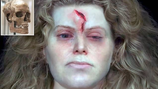 Scientists have reconstructed the face of ancient 1,000 year old Viking warrior sheila