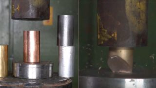 The Hydraulic Press Channel smashes a window testing the strength of metals