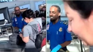 You'll want to see this customs officer's reaction to sex toy in sheila's bag