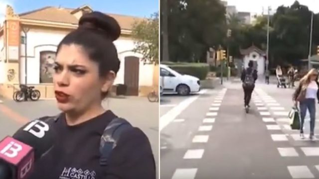 Sheila gives interview about scooter regulations, gets skittled seconds after