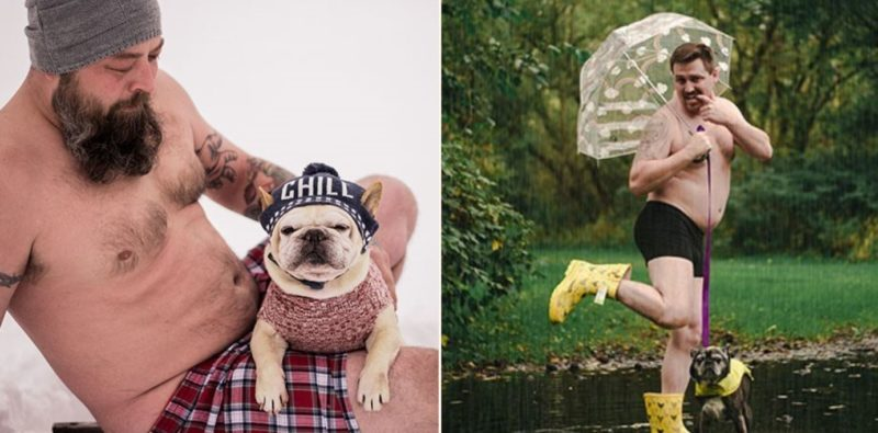 Forget the bloody fireman calendar, get yaself a dad bod and dog calendar this Christmas