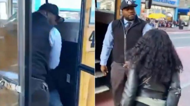 Video of bus driver throwing kid off bus ends in mass bloody confusion