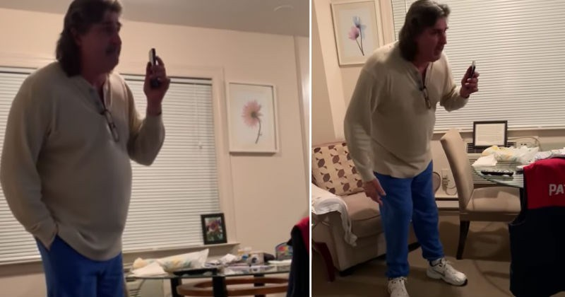 Bloke goes ballistic after finding out his family are microwaving the thanksgiving turkey