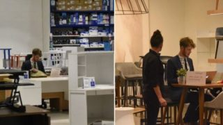 This bloke timed how long office stores would let him work at display desks