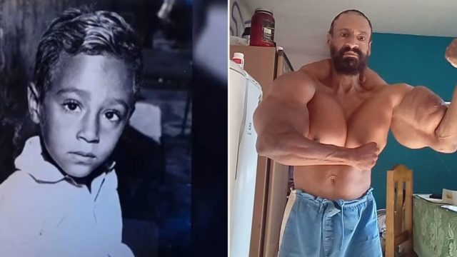 Once nicknamed 'skinny dog' this guy abused synthol more than anyone in history