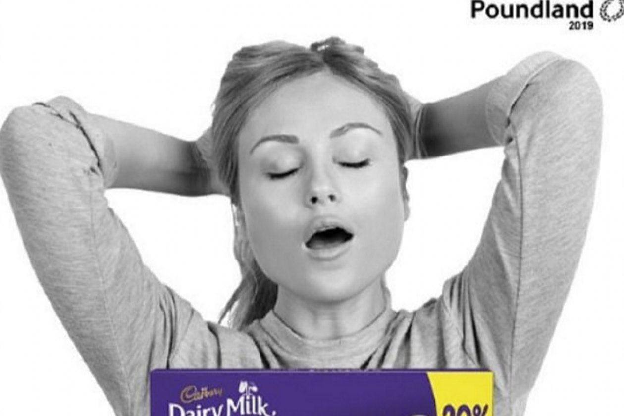 This 'Smutty' Cadbury advertisement was removed after receiving too many complaints