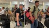 US Fire-fighters given a hero's welcome on arrival to battle bushfires