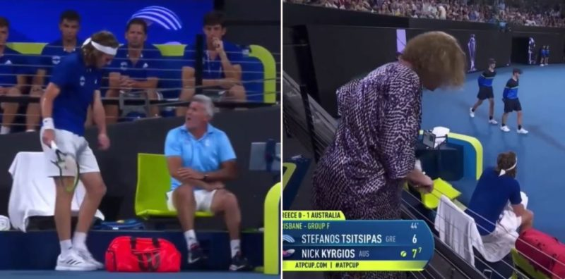 Mum gives tennis star a f*#@en spray for temper tantrum on the court