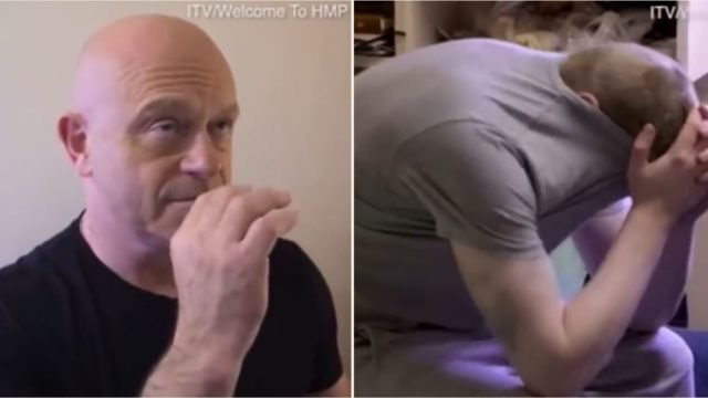 Ross Kemp momentarily unable to speak after smelling inmate's vape