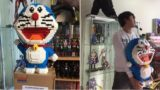Cat destroys 2,400 piece Doraemon figure bloke spent a week building
