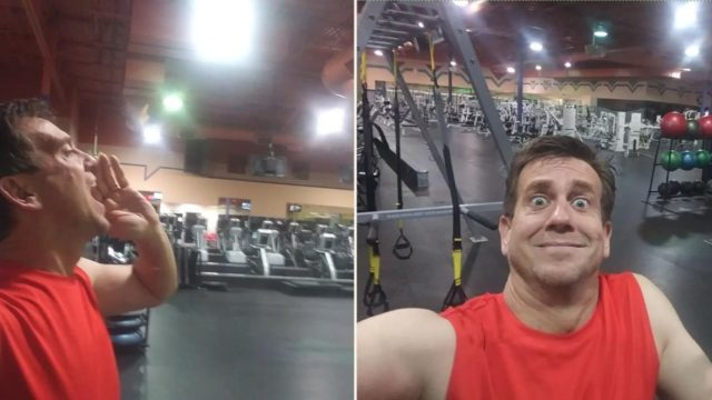 "Bloke gets locked inside closed ""24-hour gym"""