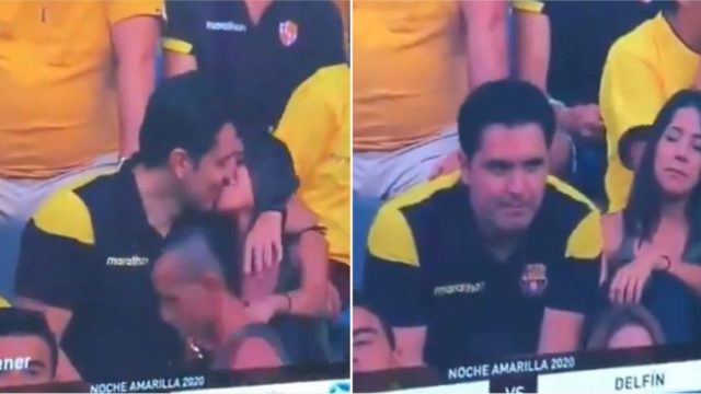 The mortifying moment bloke gets busted cheating on live TV