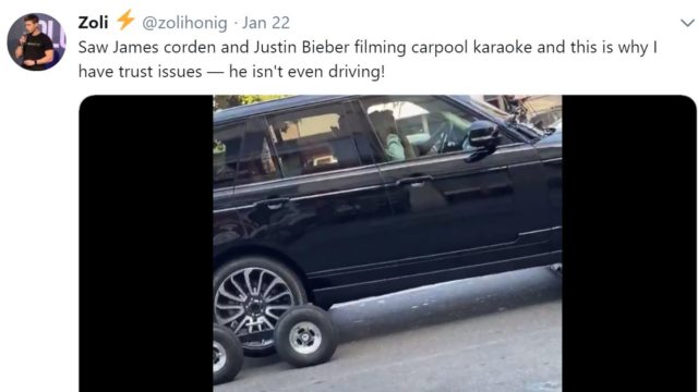 James Corden responds to 'outrage' over carpool karaoke segment