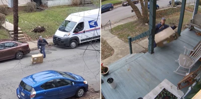 Courier driver has made themselves internet famous with shocking delivery