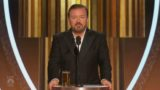 Ricky Gervais roasts the s**t out of Hollywood with final Golden Globes speech!