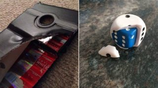 A bunch of times people broke something and found a secret inside
