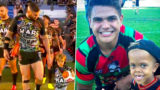 Quaden Bayles walks out Indigenous team for All Stars Rugby League game