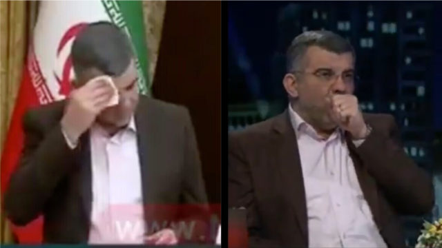 Watch the Coronavirus strike down Iran's Deputy Health Minister in real time