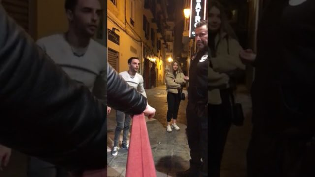 """Spanish bouncer says """"YEAH NAH"""" to annoying customer with a slap that we could bloody hear back in Australia"""