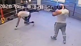 Former Champion boxer takes just 30 seconds to teach 'mouthy' student a lesson