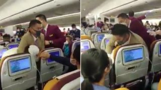 Mayhem on board after woman 'deliberately' coughs on flight attendant